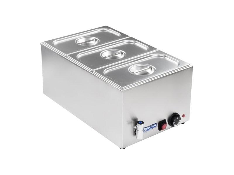 Bain-marie électrique professionnel bac gn 1/3 avec robinet de vidange 1 200 watts helloshop26 3614103