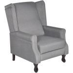 Vidaxl fauteuil tv réglable en tissu gris