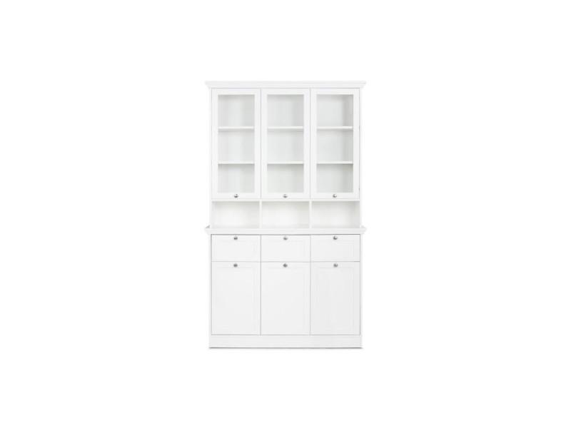 Landwood vaisselier classique - blanc - l 120 cm 4260281758311