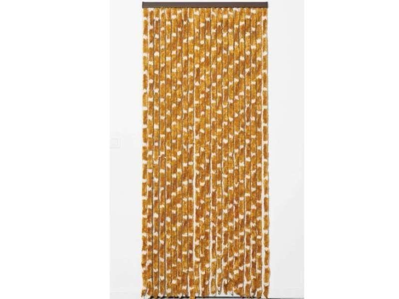 Rideau chenille 120 x 220 cm marron/blanc 30 brins - Vente de Rideau ...