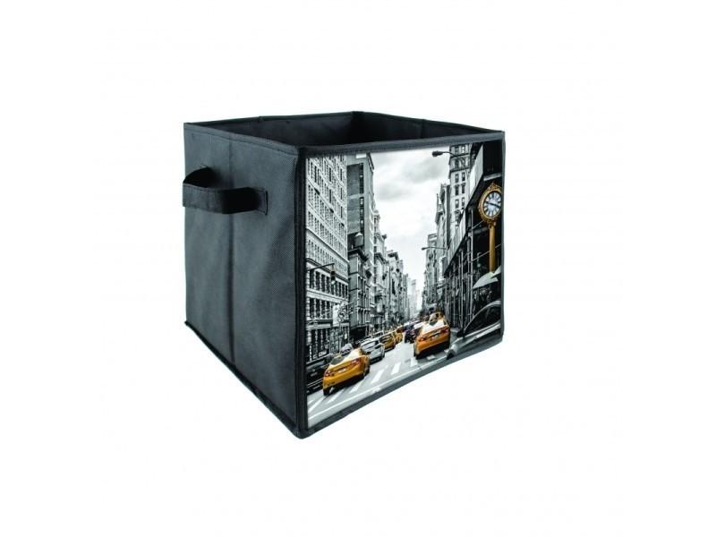premier taux dd714 5bea9 Boîte de rangement - new york - jaune et noir - Vente de ...
