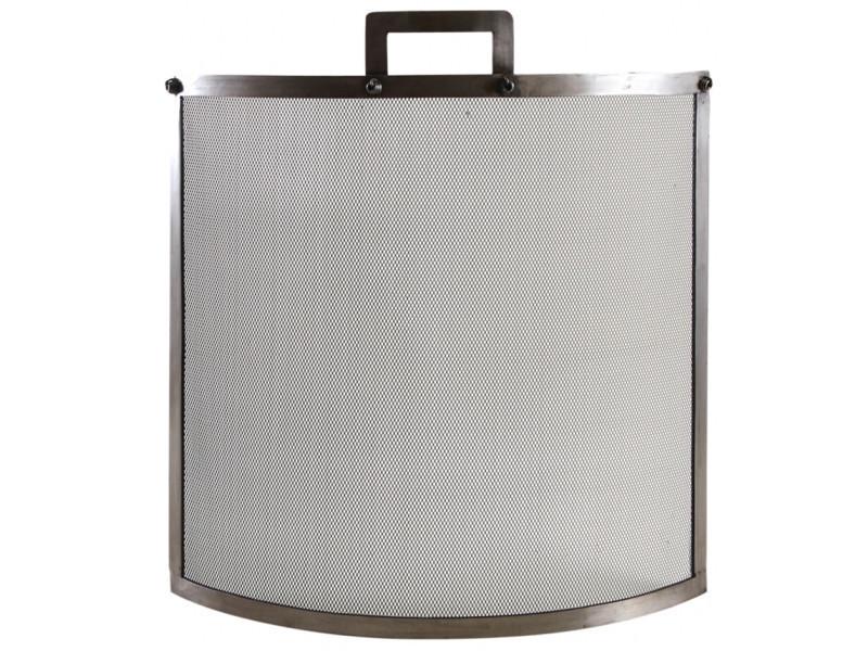 Pare-feu de cheminée en fer forgé, étain - dim : 61 x 14 x 68 cm -pegane-