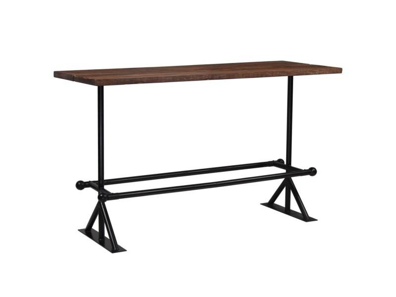 Moderne tables ensemble khartoum table de bar bois massif de récupération marron 180x70x107 cm