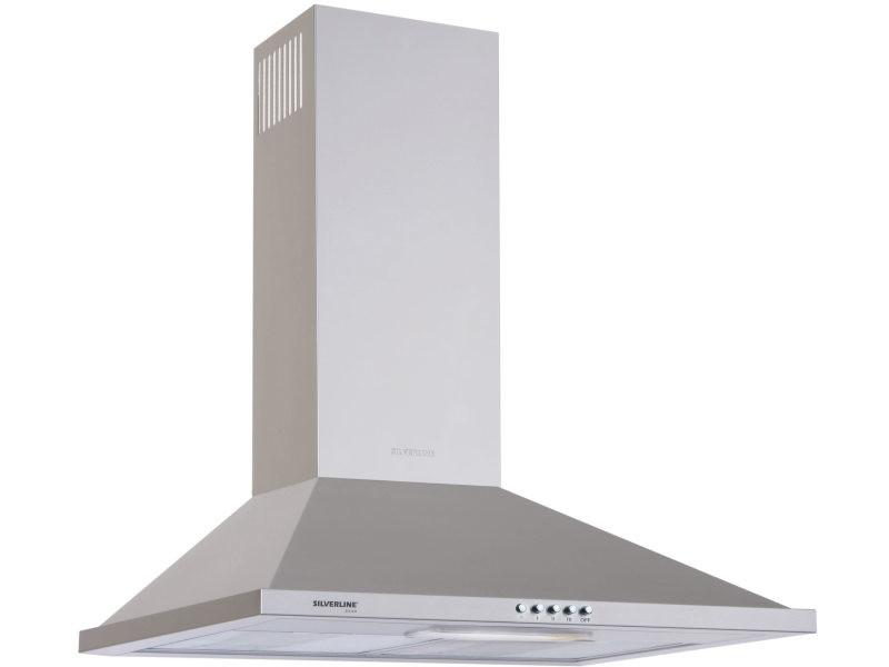 Hotte décorative 632m³/h silver 60cm, h 10060 015