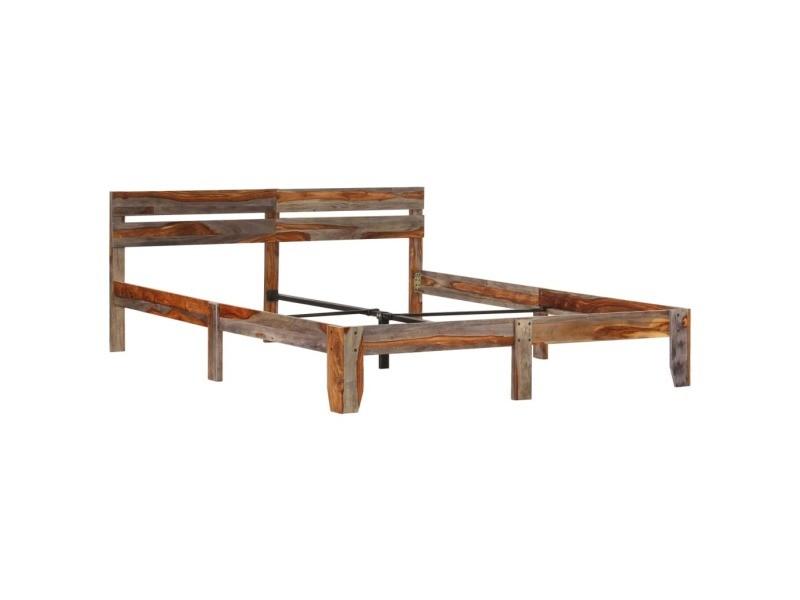 Vidaxl cadre de lit bois massif 180x200 cm cadre 2 personnes
