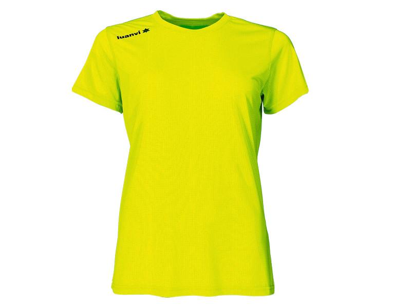 T-shirt de sport stylé taille l t shirt à manches courtes luanvi nocaut gama jaune (5 unités)