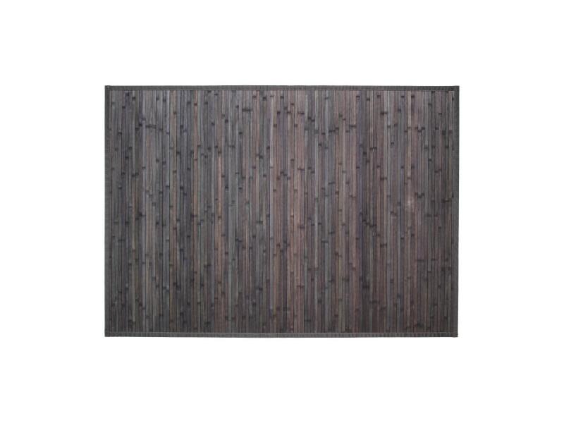 Atmosphera - tapis bambou latté gris foncé 120x170