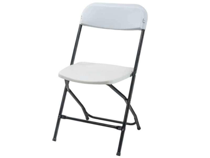 Chaise pliante plastique et métal - Vente de Salon de jardin ...