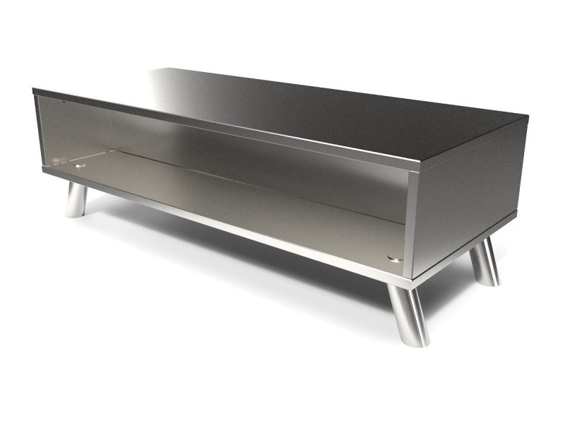 Table basse scandinave bois rectangulaire viking gris aluminium VIKINGTABLB-Ga