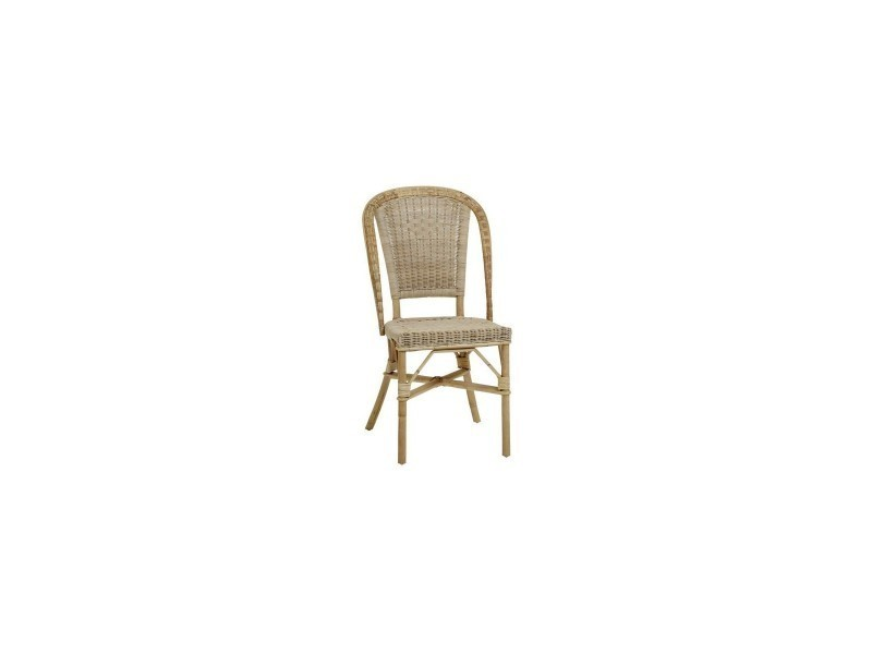 Chaise en rotin albertine vente de kok maison conforama for Chaises rotin conforama