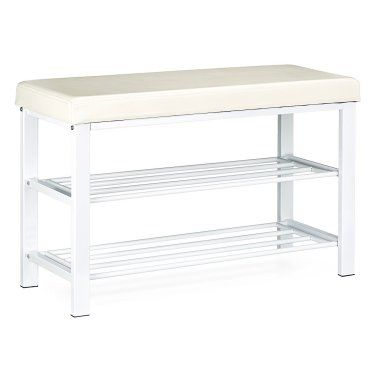 meuble chaussure banc banquette de rangement 81 cm blanc helloshop26 3013005 vente de bo te. Black Bedroom Furniture Sets. Home Design Ideas