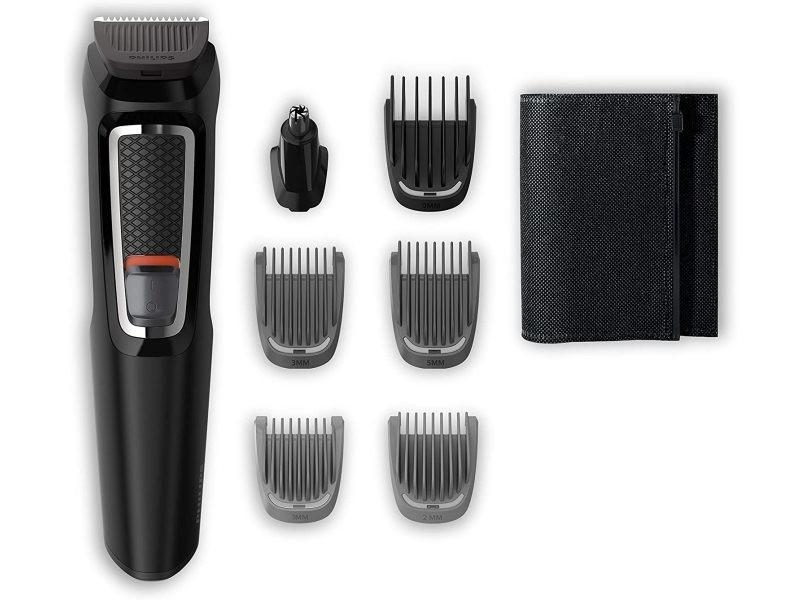 Tondeuse à barbe et precision 7 en 1 gris noir
