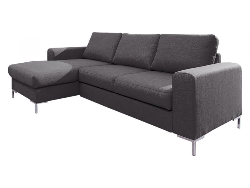 Canapé lilly angle gauche convertible coffre gris anthracite 5906395167937