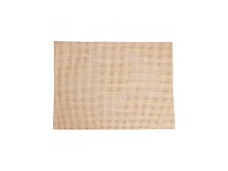 Set de table en pvc beige - lot de 6 - pvc&polyester