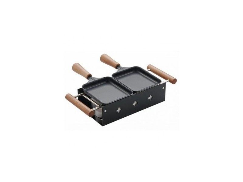 Service raclette avec bougie chauffe plat alpestre table and cook