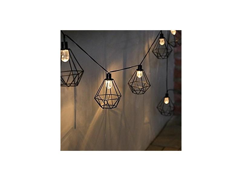 Guirlande Lumineuse Solaire  Lanternes Fil De Mtal Noir Style