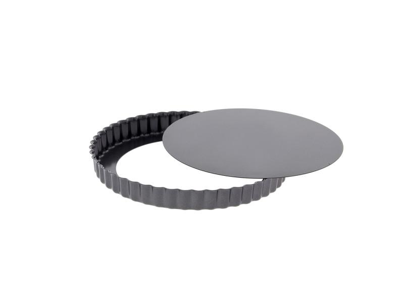 Moule à tarte 32 cm en acier anti adhèrent démontable