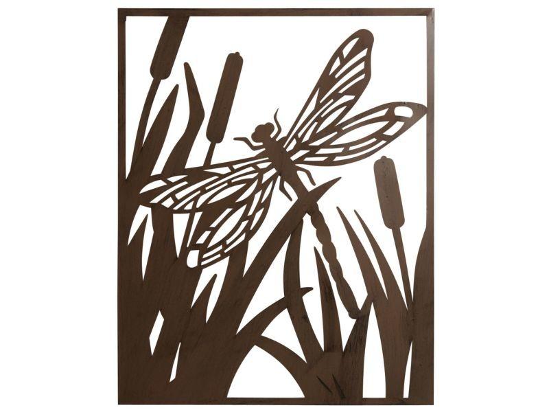 Cadre en métal vieilli libellule