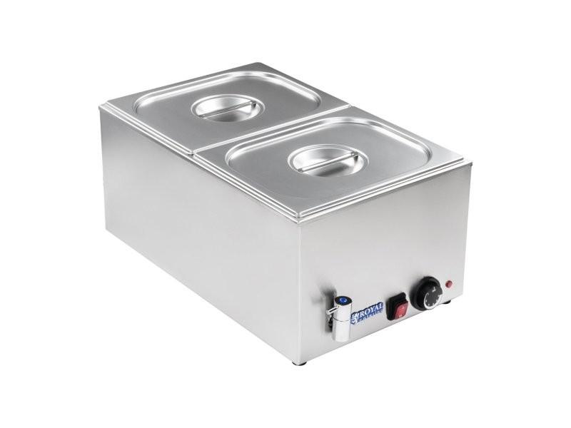 Bain-marie électrique professionnel bac gn 1/2 avec robinet de vidange 1 200 watts helloshop26 3614102
