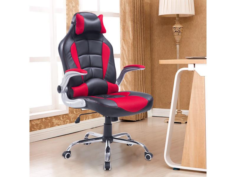 fauteuil chaise de bureau mod le baquet de course grand confort hauteur inclinaison dossier. Black Bedroom Furniture Sets. Home Design Ideas