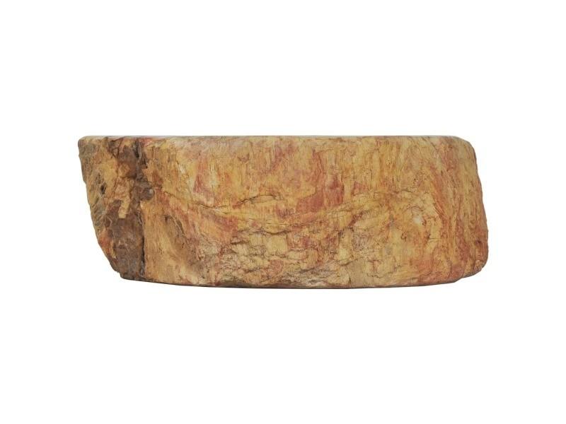 Icaverne - éviers et lavabos categorie évier 45 x 35 x 15 cm pierre fossile crème