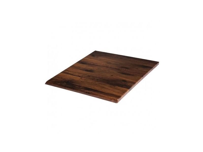 Plateau de table carré 700 mm werzalit chêne antique
