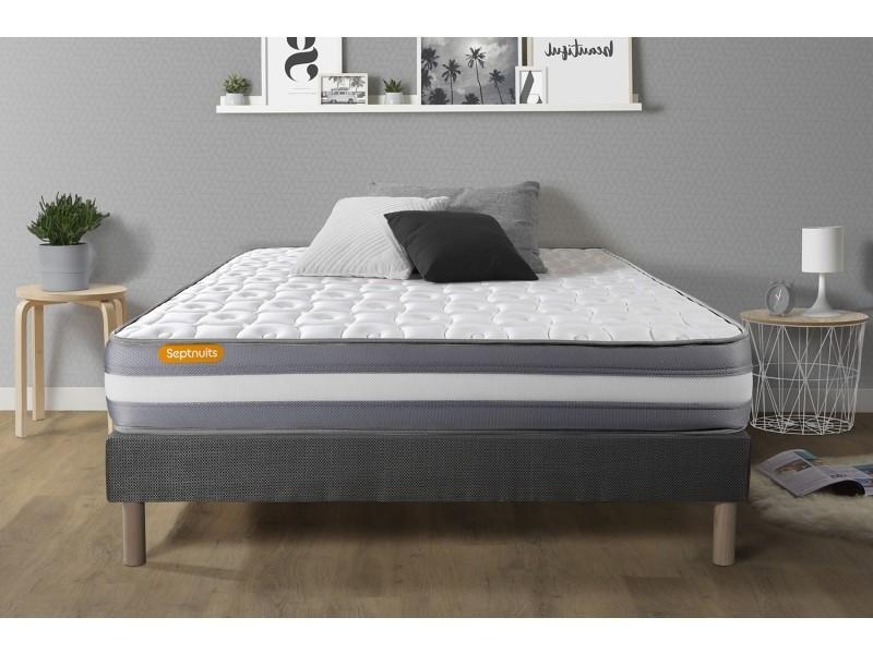 matelas sommier gris 140x190 memo plus m moire de forme 3 zones 7nmemopens140190g vente de. Black Bedroom Furniture Sets. Home Design Ideas