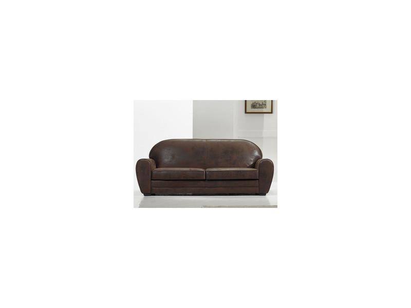 canap vintage 3 places alaska marron vente de habitat et jardin conforama. Black Bedroom Furniture Sets. Home Design Ideas
