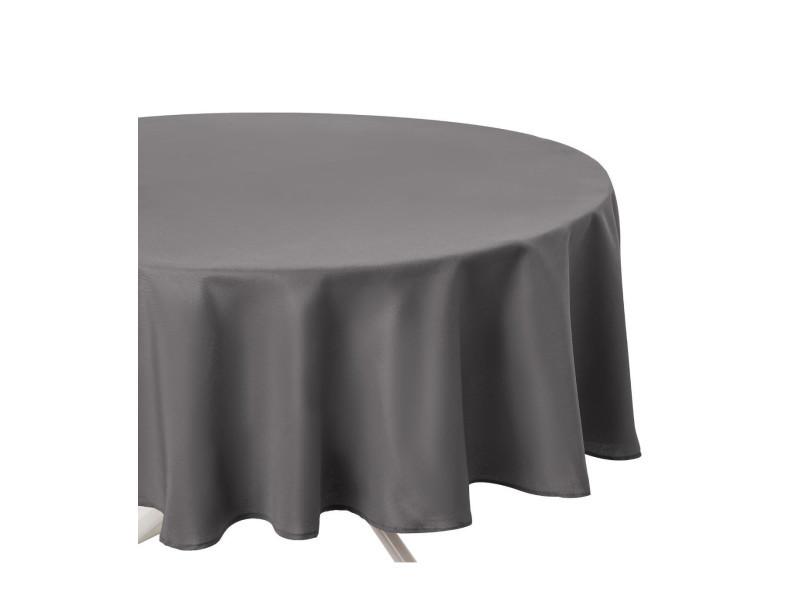 Nappe ronde - diamètre 180 cm - gris