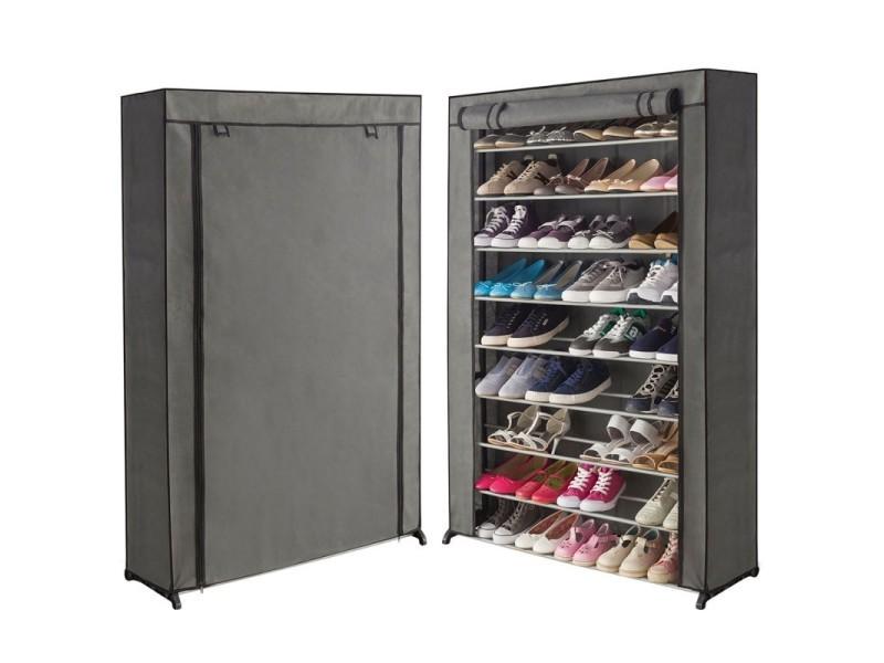 Étagère range chaussures 50 paires housse grise - Vente de ID MARKET ...