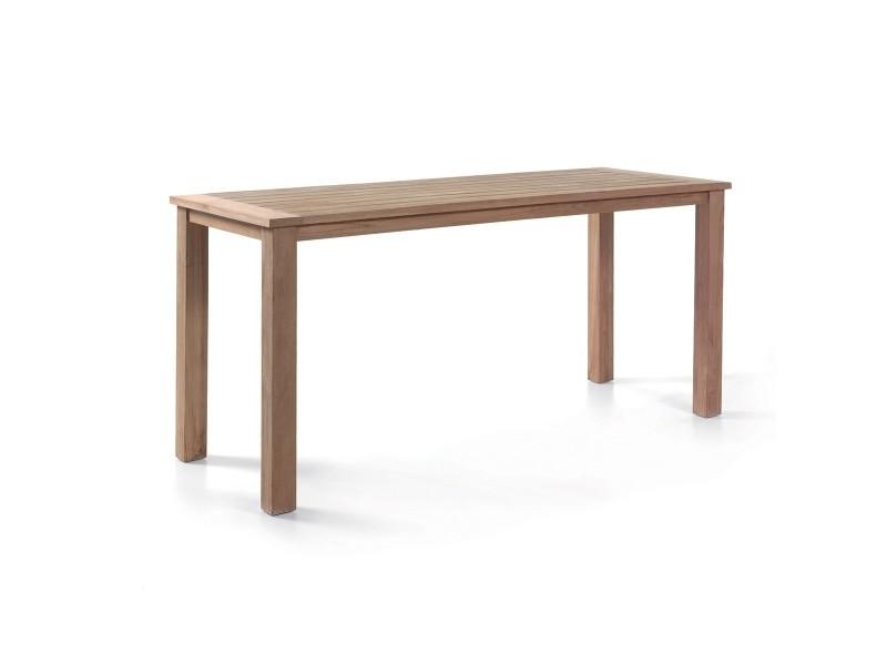 Table haute en teck recyclé bangka