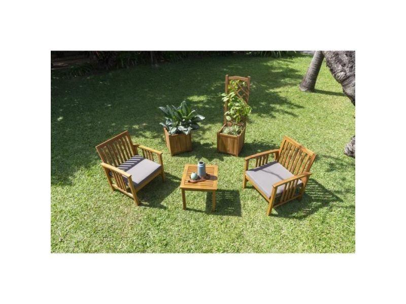 Salon de jardin - ensemble table chaise fauteuil de jardin manaja ...