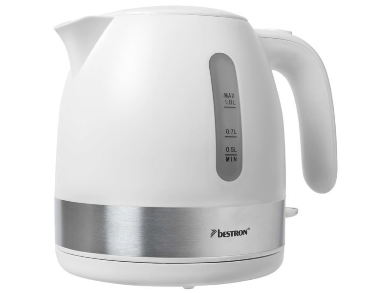 Bestron bouilloire électrique 2150 w 1 l blanc awk1000w 416232