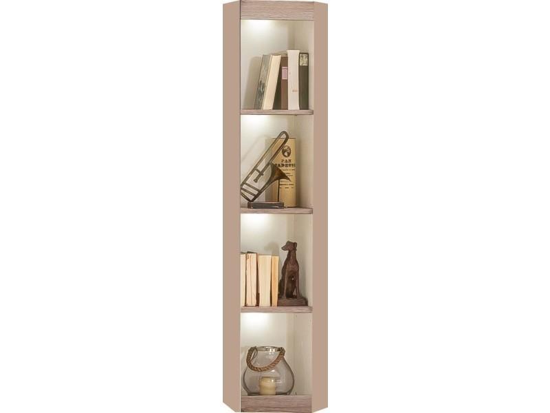 biblioth que d 39 angle pour salon coloris ch ne sable vente de comforium conforama. Black Bedroom Furniture Sets. Home Design Ideas