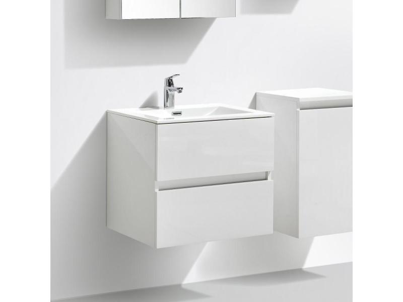 Meuble salle de bain design simple vasque siena largeur 60 ...