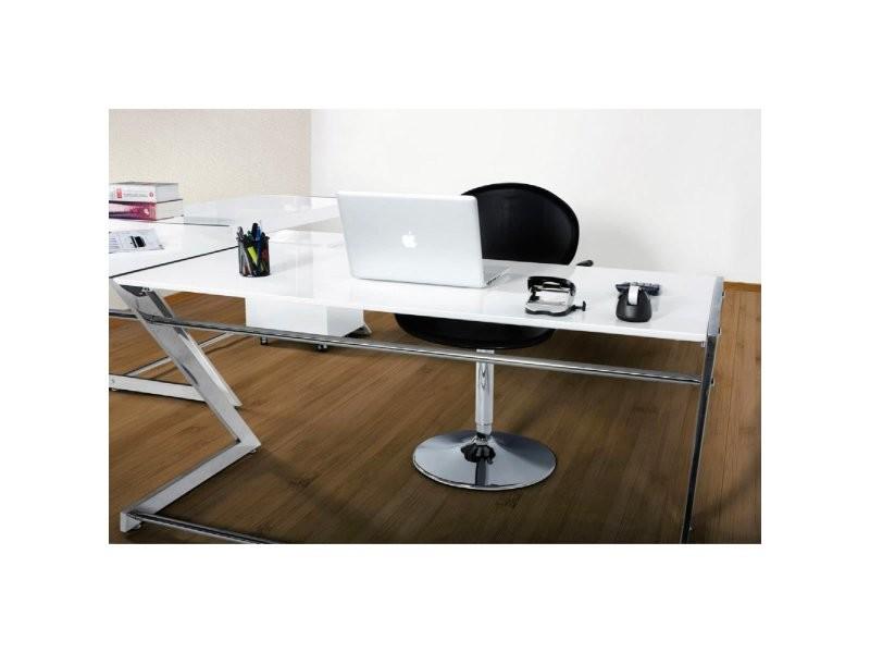 bureau d 39 angle arrondi modern kokoon design ot00090wh conforama. Black Bedroom Furniture Sets. Home Design Ideas