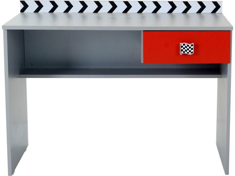 Bureau Enfant Design Formule1 Coloris Gris Et Rouge - Vente De