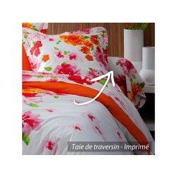 Taie de traversin 140x43 cm 100% coton nina flower * destockage *