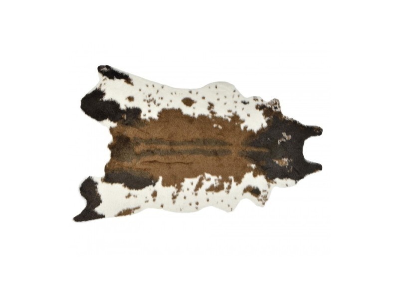 Tapis vache acrylique marron et blanc - Vente de WADIGA - Conforama