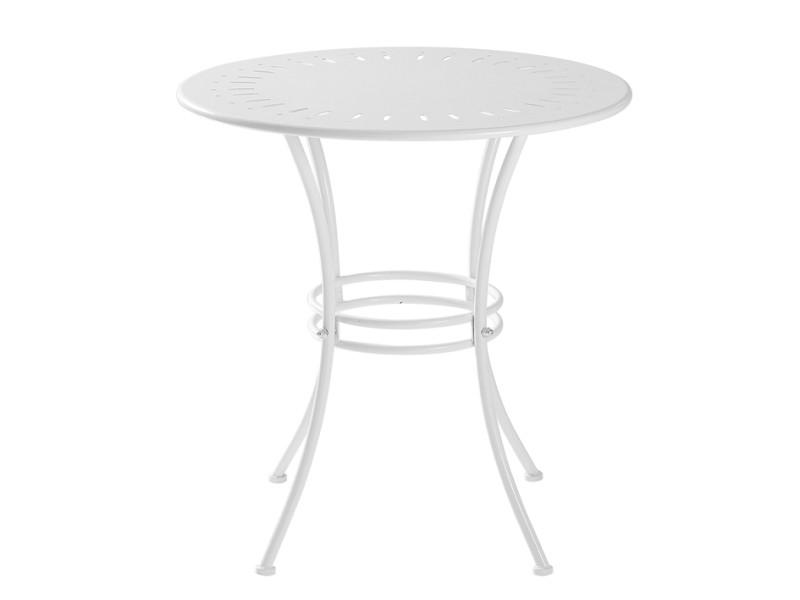 Sobuy ogt46-w table de jardin ronde ø 70 cm table de bistrot table ronde pour cuisine ou exterieur terrasse