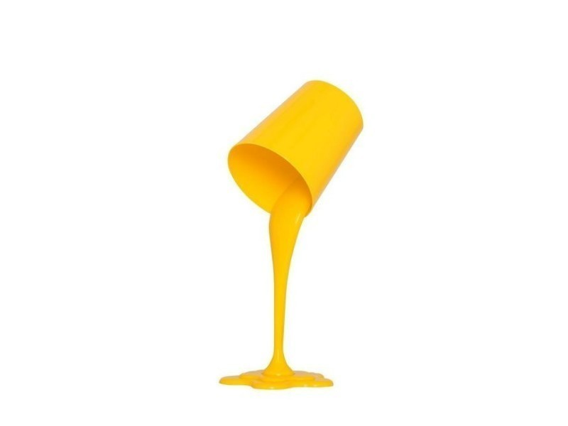 Lampe De Chevet En Plastica Jaune Luminaire Design Pour