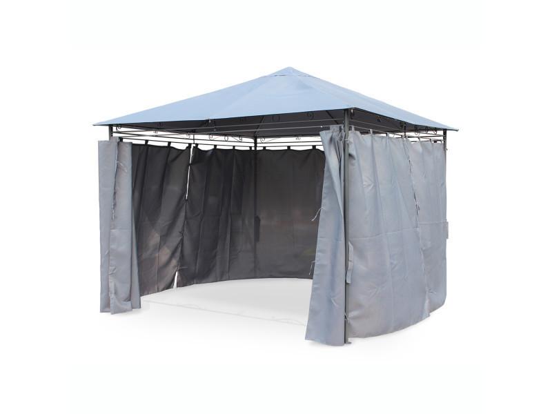 tente de jardin pergola 3x3m tolosa toile grise barnum tonnelle chapiteau vente de alice 39 s. Black Bedroom Furniture Sets. Home Design Ideas