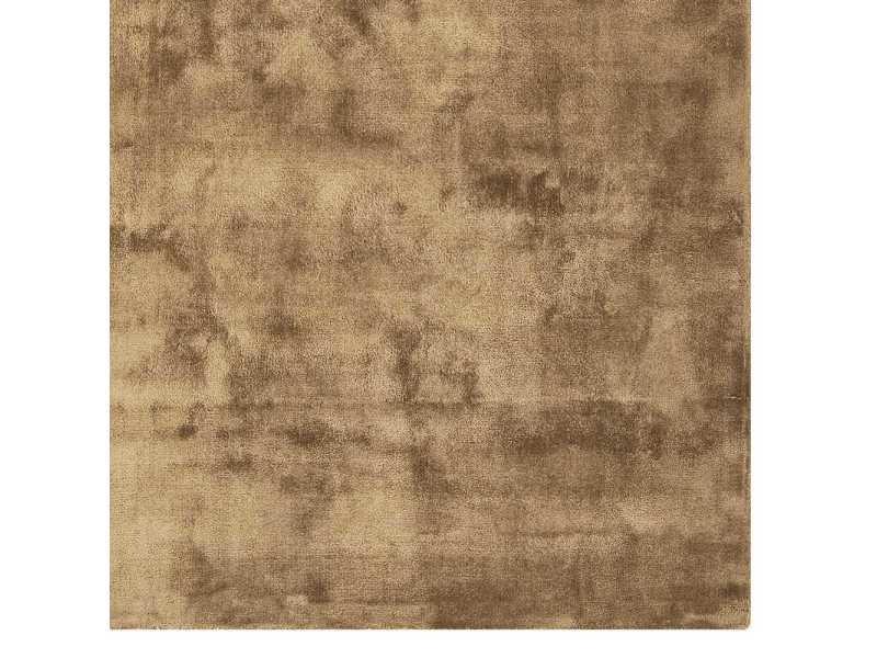 Tapis De Luxe Uni Marron Clair En Viscose Dimensions 200 X 300 Cm