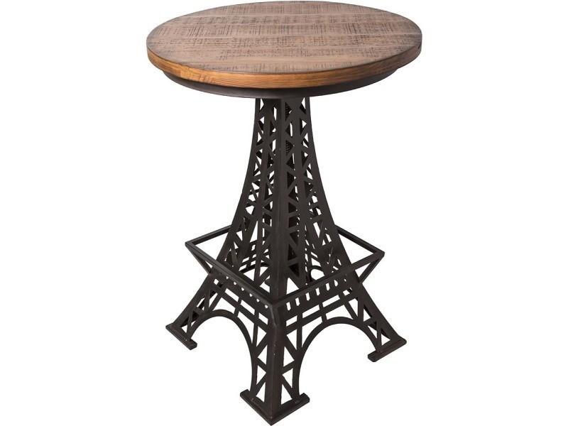 table bistrot pieds tour eiffel vente de antic line cr ations conforama. Black Bedroom Furniture Sets. Home Design Ideas