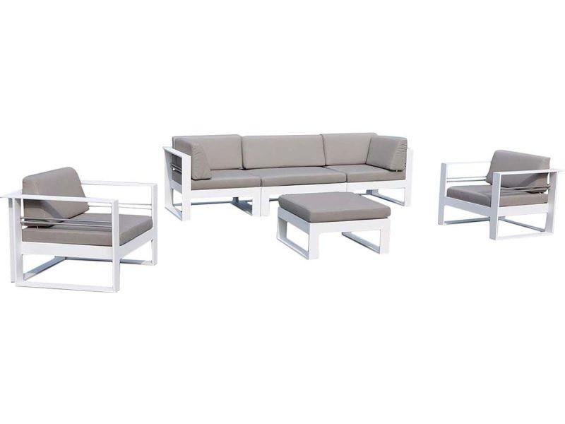 Salon de jardin aluminium haut de gamme 5 places - st tropez - Vente ...