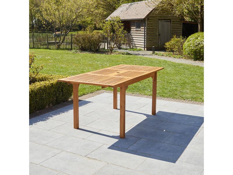Table de jardin extensible en bois d'acacia 6/8 personnes