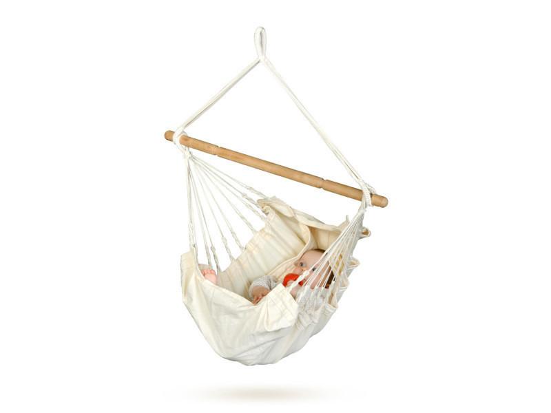 Hamac bébé yokiko écru, dim : 60 x 115 x 110 cm -pegane-