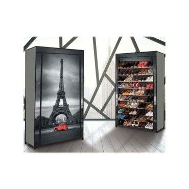 Etagere Range Chaussures 50 Paires Eco Avec Housse Imprime Paris Vente De Id Market Conforama