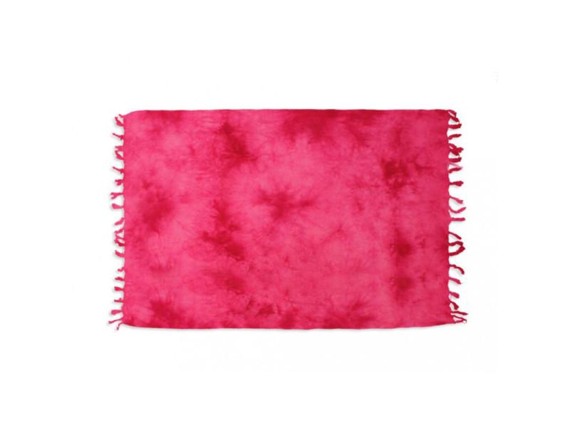 Fouta coton 140x180 cm tie and dye fuchsia