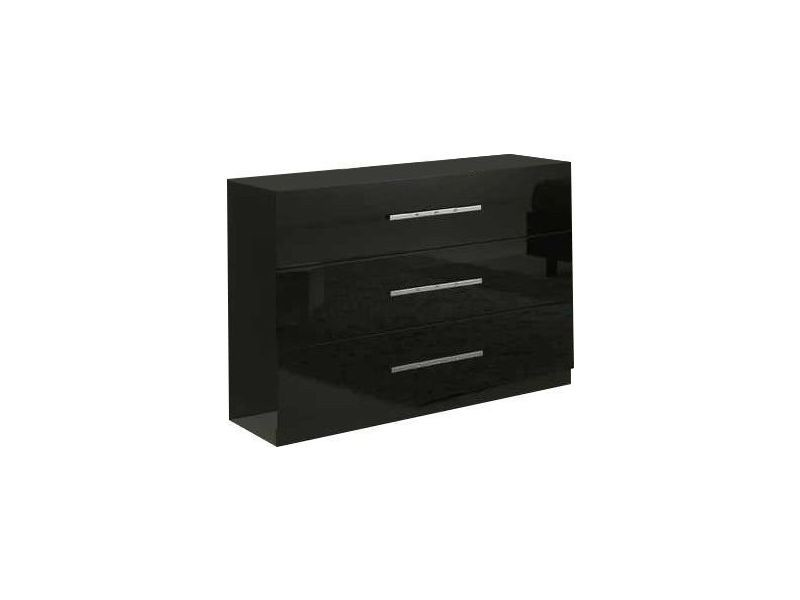 commode design 3 tiroirs coloris noir laqu vente de commode conforama. Black Bedroom Furniture Sets. Home Design Ideas